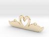 Swans Heart 3d printed