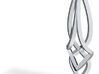 Celtic Feminine Pendant Design  Solid Framed Top 3d printed