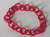Chain Bracelet 3d printed Coral Red SF