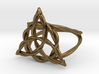 Woven triquetra ring 3d printed