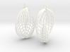 Running in Circles - Earrings 3d printed