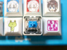 Double-Decker Keycap - Switch as keycap 3d printed From the top, it has 18mm square size.