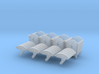 4 Müllcontainer mit Runddeckel (N 1:160) 3d printed