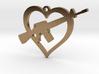 I Love my AR-15 Pendant 3d printed