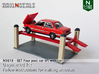SET Four post car lift with car (N 1:160) 3d printed