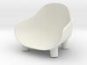 1:12 Chair v3 wooden legs 1 3d printed Stoel v3 houten poten 1 - wit