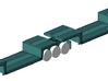 1/50th Double Drop Flatbed B Train trailers 3d printed