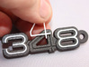 LOGO 348 INNER INSERTS 3d printed Keychain 348 white plastic inserts.