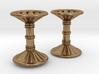 Channeled Column Cufflinks 3d printed