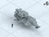 """6mm Heavy Grav Tanks (6) 3d printed Shown on 1"""" grid with 6mm figure (not included) for scale."""