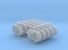 Absperrschieber 1000mm 10erSet - TT 1:120 3d printed