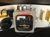 Flux Capacitor for 1:8 BTTF DeLorean set 1 of 2 3d printed Complete flux capacitor (set 1 and 2) on the bulkhead