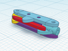 1/64 Steering Rack for Diecast Toy Cars 16mm width 3d printed Rear View