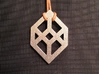 Necker/Impossible Cube Pendant 3d printed 'Back' (Necker Cube)