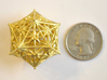 D20 Balanced - Radiant 3d printed Matte Gold Steel - No longer available