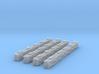 4 Sandbag Walls for 1/400 3d printed