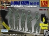 1/24 German U-Boot Crew Set411-02 3d printed