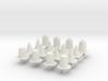 Assorted raffic cones sprue 3d printed