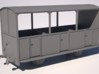 009 Talyllyn Semi-open Carriage No 8-12 3d printed