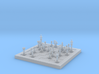 1/18 Scale Chess Board Mid-game (v02) 3d printed