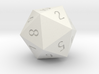 Customizeable Spindown D20 (1 Side Customization) 3d printed