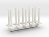 Stanchion Tube Barricade 1-50 Scale 3d printed