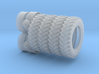 """1/64 Scale 42"""" Silver Rear Wheels & Tires 3d printed"""