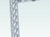 One Track Block Signal Hood  Shade HO 3d printed