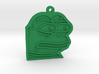 Pepe the Frog monkaS Meme Keychain 3d printed