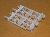 """HO AB Brake System Kit 3d printed This is the """"d10"""" AB brake sprue (WITH regulators).  There are enough parts for two cars."""
