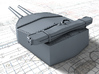 "1/400 HMS Hood 15"" (38.1 cm) Mark II Turrets 1941 3d printed 3d render showing A Turret detail"