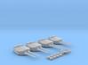 "1/400 HMS Hood 15"" Mark II Turrets 1941 B. Bags 3d printed 1/400 HMS Hood 15"" Mark II Turrets 1941 B. Bags"