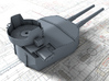 "1/350 HMS Hood 15"" Mark II Turrets 1941 B. Bags 3d printed 3d render showing B Turret detail"