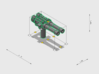Small ship cannons style 9(turret) pack 270th 3d printed