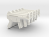 5x HK MP5K assault rifle for Playmobil figures 3d printed