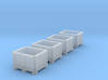 TT Scale Palletbox (4pc) 3d printed