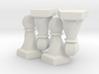 Geometric Chess Set Pawn 3d printed
