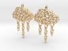 Rainy Earrings 3d printed