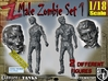 1-18 Male Zombie Set1 3d printed