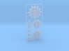 Mechanical Cult Gear Icons 3d printed