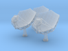 SKA Radio Telescope Dishes (set of 3) 3d printed Digital Render of the 3D Prints