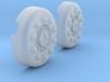 1/18 Dragon Wagon Wheel Center Set103 3d printed