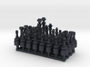 1/18 Scale Chess Pieces Sprue (Full Set) 3d printed