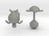 Tortuga Cufflinks 3d printed