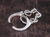Gear Spinning Ring 3d printed Polished Silver