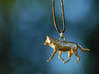 Running Wolf Pendant 3d printed