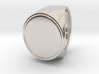 Signe  -  Unique US 7 Small Band Signet Ring 3d printed