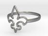 Fleur de Lille (Fleur-de-lis) Ring (variant 1) 3d printed