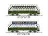 OO scale Lancaster Palace Upper Deck Open Conduit  3d printed Line drawing of conduit tram