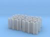 Bench type F (duble) - H0 ( 1:87 scale ) 24 Pcs se 3d printed